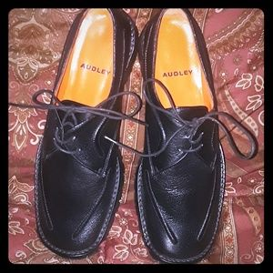AUDLEY Fine Leather Lace-Up Oxford Shoes